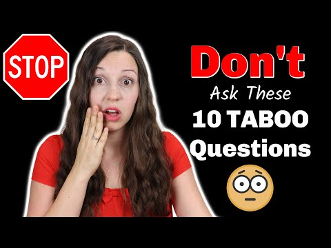 10 Taboo Questions in the USA: NEVER ask these questions