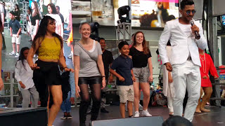 "Diwali TakeOver Times Square 2017 TERENCE LEWIS teaches ""Lungi Dance"" in HD"