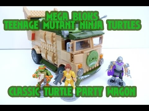 MEGA BLOKS TEENAGE MUTANT NINJA TURTLES CLASSIC PARTY WAGON Building Set Review