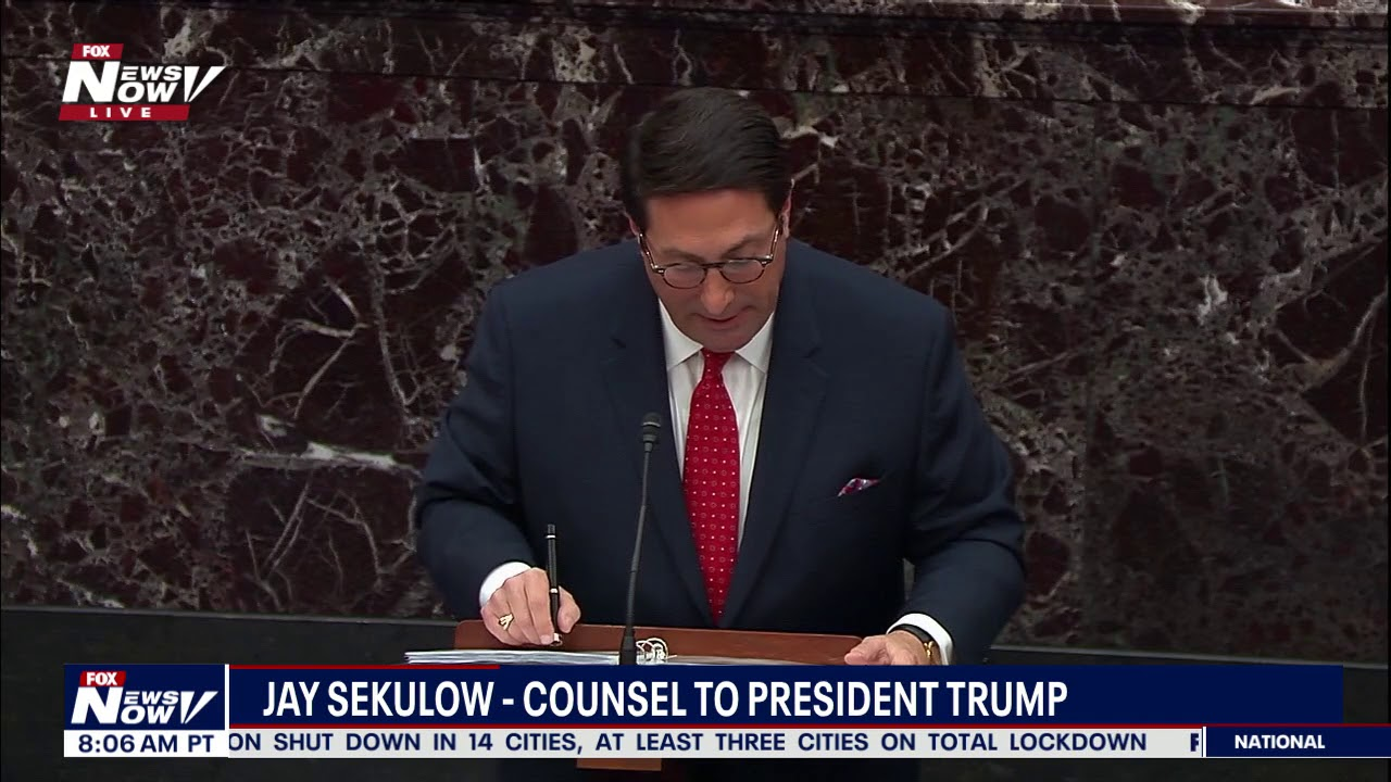 TIME TO END THIS: Jay Sekulow TEARS Into Democrats Case On President Trump Impeachment - The News No