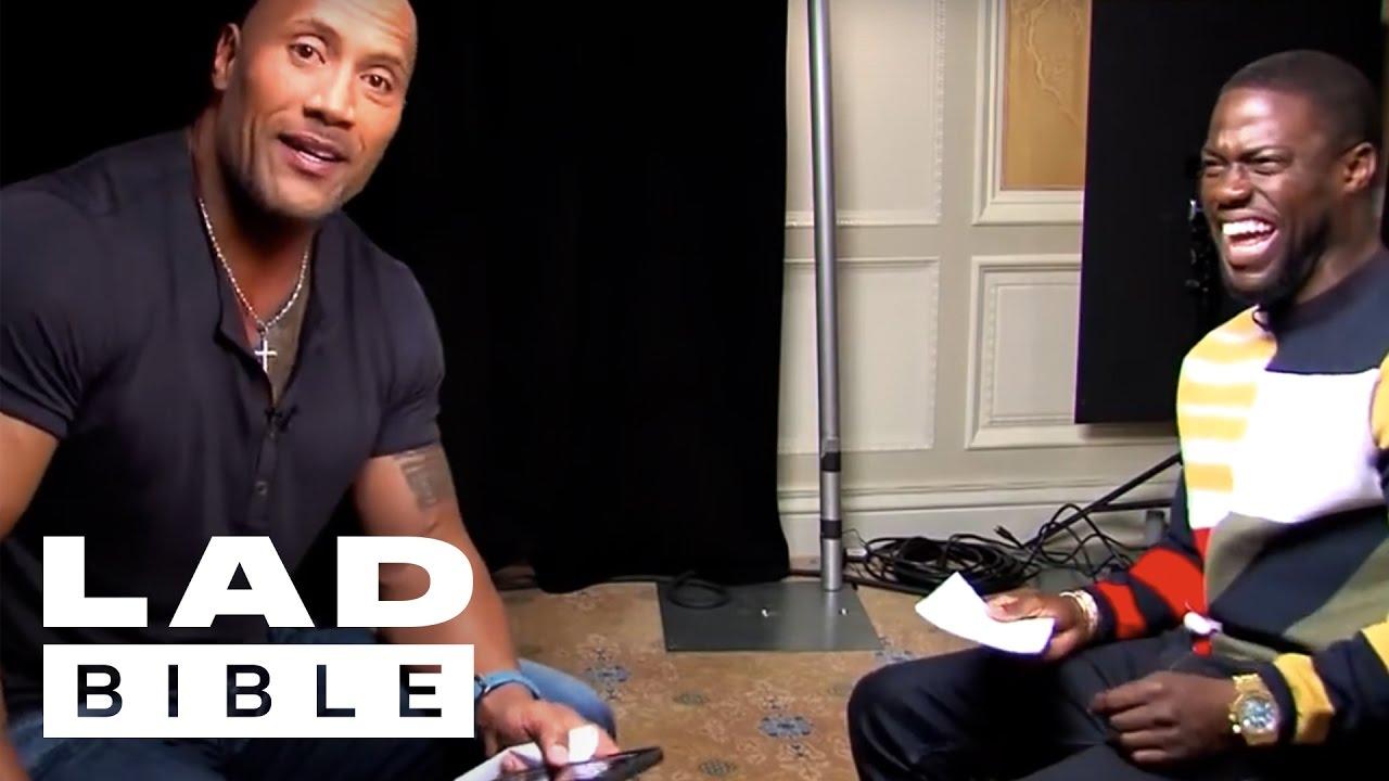 Ladbible Roles Reversed Dwayne The Rock Johnson Impersonates Kevin Hart