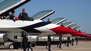 USAF Thunderbirds Ground Show Before Takeoff