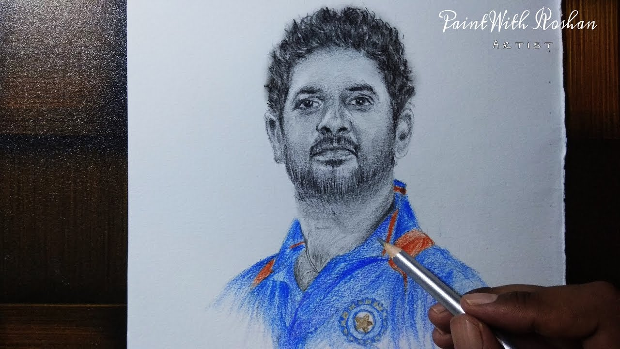 Paintwithroshan yuvrajsingh indiancricketer