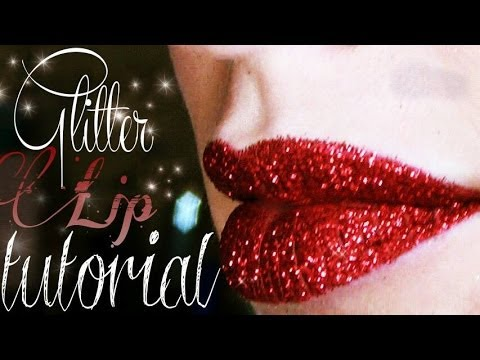 Long Lasting Glitter Lip Tutorial
