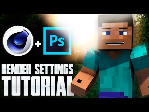 [Minecraft TUTORIAL]: How to set HD Render Settings in Cinema 4D [C4D] [HD]