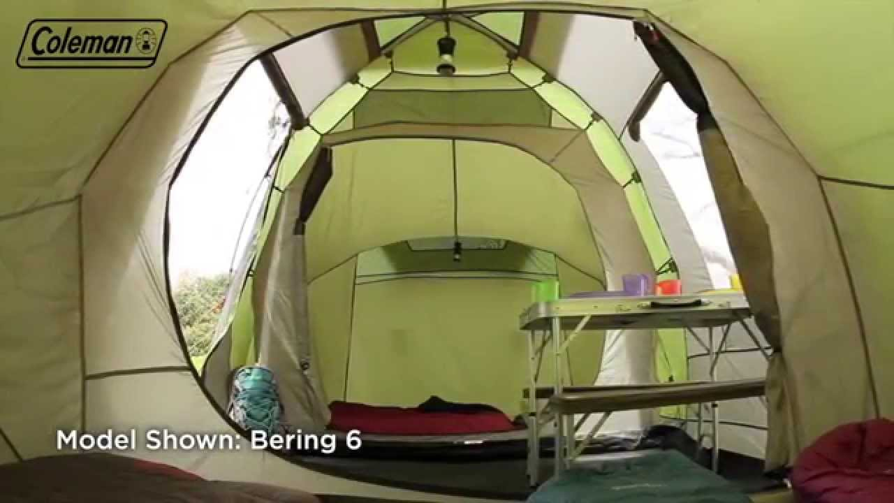 & Coleman® Bering 4 - Four person Family Camping Tent - EN - YouTube