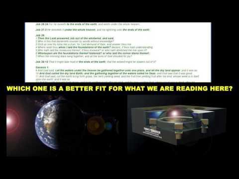 The indisputable Biblical case for a Flat Earth cosmology