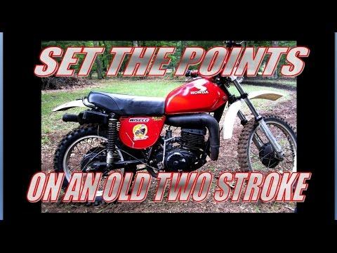 set the ignition points 1976 honda mr 250 youtube