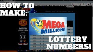 How To Make: MEGA MILLIONS Lottery Numbers in Microsoft EXCEL!