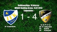 HonkaTV kooste: IFKM - FC Honka 1-4 [14.07.2013]