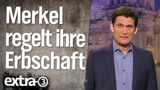 Christian Ehring: Merkel regelt ihre Erbschaft
