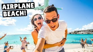 airplane-beach-jet-blast-low-landings-at-maho-beach-st-martin