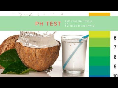 Fresh Coconut Water vs. Bottled Coconut Water pH Test