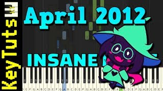 April 2012 from Deltarune - Insane Mode [Piano Tutorial] (Synthesia)