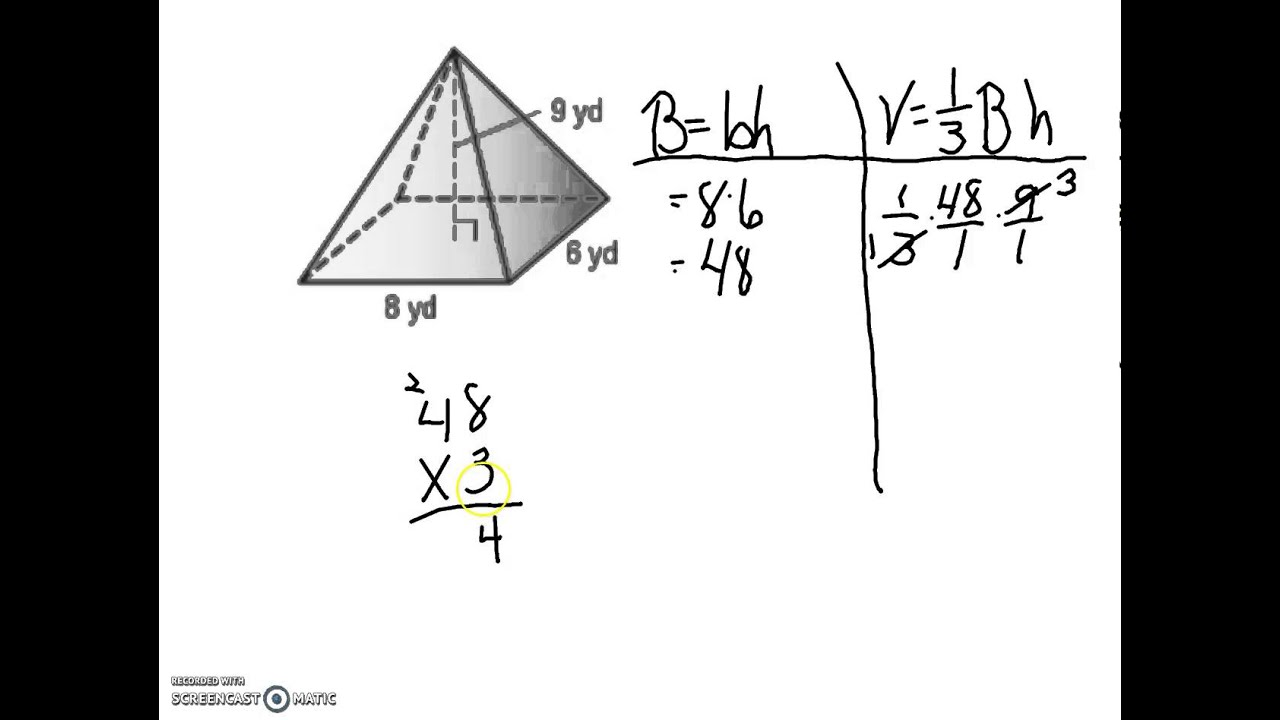 Volume of Rectangular Pyramid - YouTube
