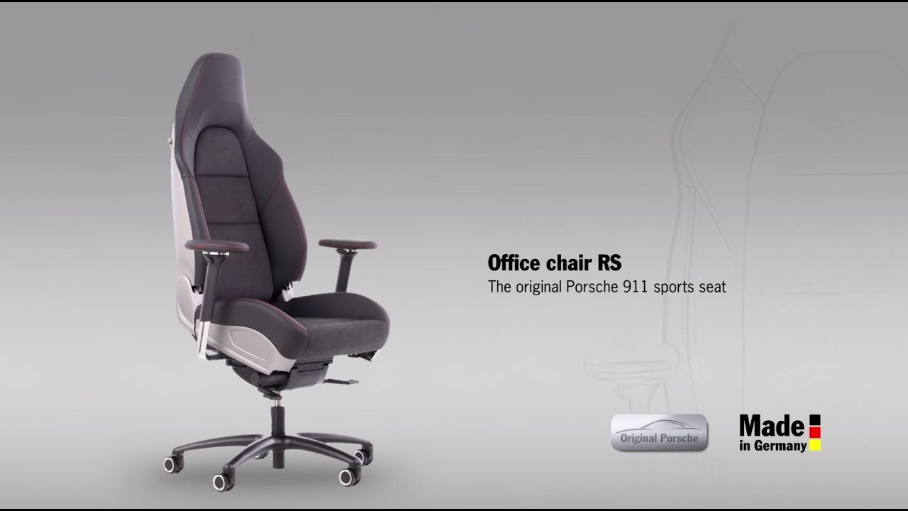 desk chair youtube home office chairs no wheels rs  the original porsche 911 sports seat