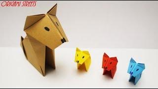 #Оригами #собака из бумаги