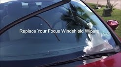 2011-2018 Ford Focus No Tool Windshield Wiper Blade Replacement
