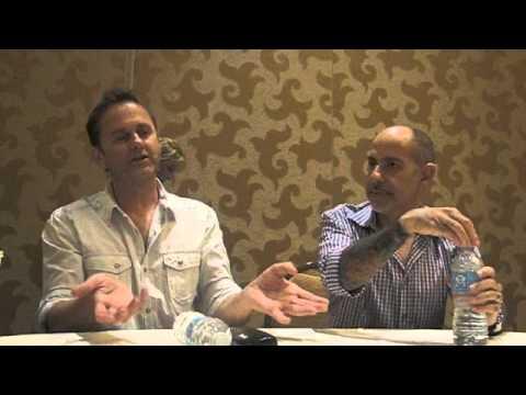Daniel Cerone and David S. Goyer, Constantine (Comic-Con 2014 Press Room)