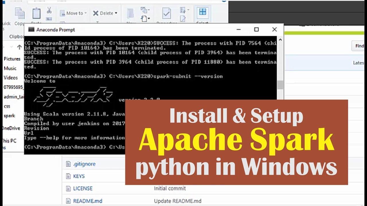 01 Install and Setup Apache Spark 2 2 0 Python in Windows - PySpark