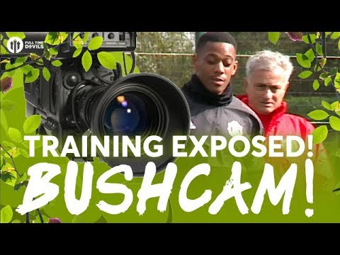 BUSHCAM: Champions League Special! Manchester United vs FC Basel TRAINING EXPOSED!