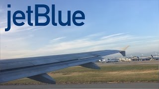 JetBlue Airways A320 pushback, taxi, takeoff at Long Beach (LGB)