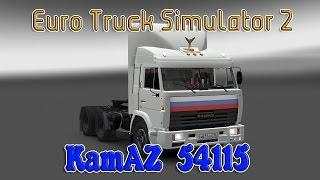 Скачать Euro Truck Simulator 2 обзор мода KamAZ 54115