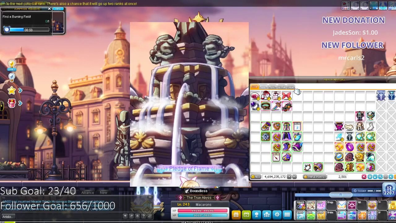 Maplestory: AURORA!! 400k NX Double Miracle Time Cubing