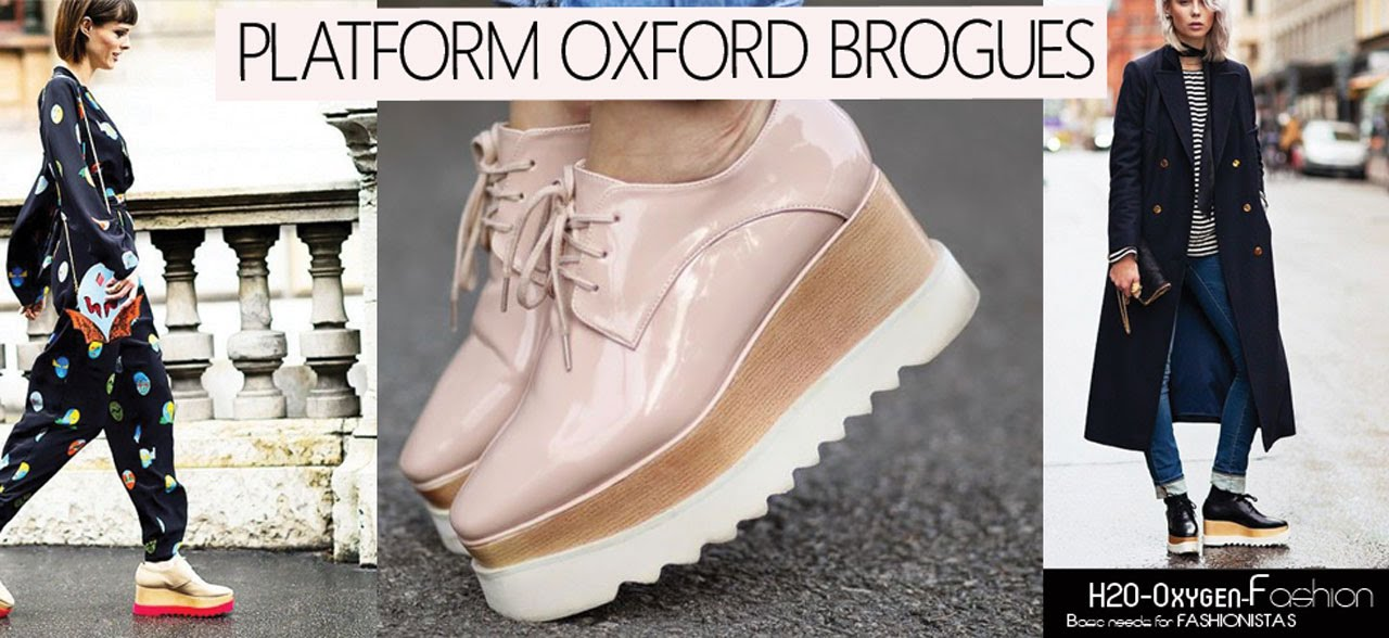 Oxford Shoes Women Plateform