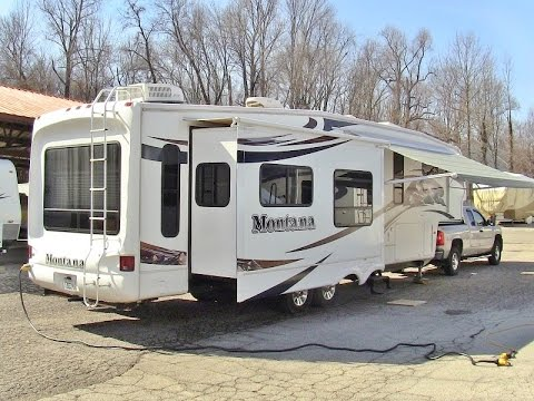 2009 Keystone Montana 3605rl Rear Living Room 5th Wheel Walk Around Video Youtube