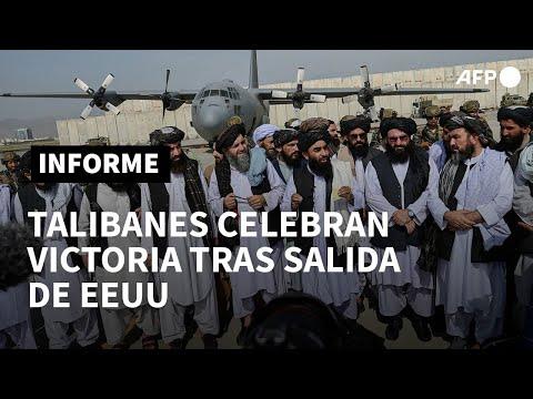 Talibanes celebran su victoria tras la salida de EEUU de Afganistán | AFP