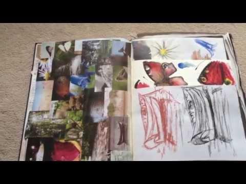 AS Fine Art Exam Sketchbook