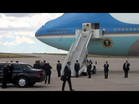 President Obama Arrives in Aurora on Air Force One, 7.22.12