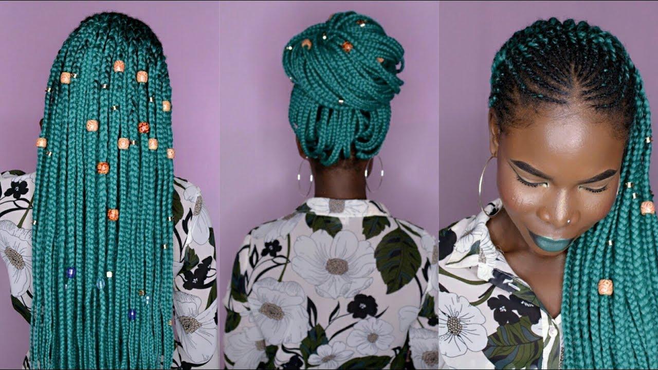 how to half cornrows half crochet box braids w aliexpress braiding