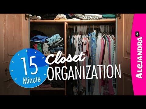 Closet Organization (Quick 15-Minutes!)