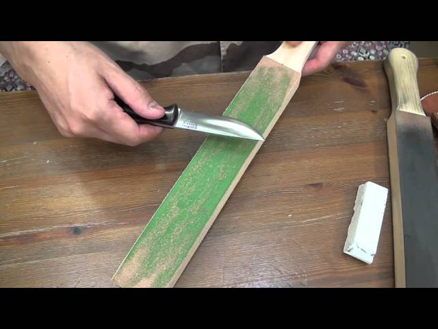 Bark River White Compound & DLT Leather Strop - YouTube