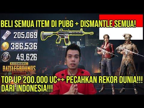 BAKAR 200.000 UC BELI SEMUA ITEM DI SHOP PUBG MOBILE INDONESIA! NEW WORLD RECORD + INFO GIVEAWAY