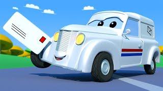Поезд для детей -  Почтальон Питер 2 - Поезд Трой в Автомобильном Городе