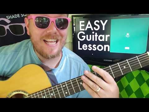 Russ - RENT FREE // easy guitar lesson tabs easy chords beginner tutorial thumbnail