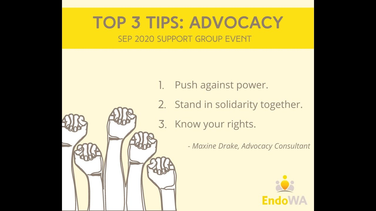 October 2020: Advocacy workshop