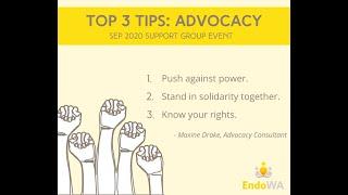 October 2020: Advocacy workshop
