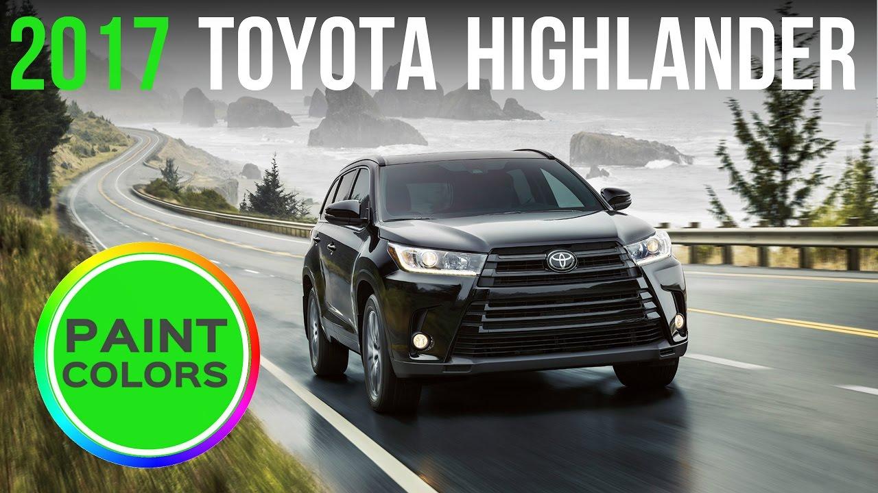 2017 Toyota Highlander Colors