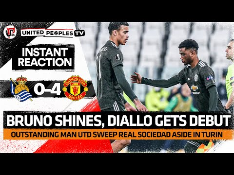 Bruno Brilliant, Rashford Delivers, Diallo Debut! | Real Sociedad 0-4 Man United
