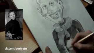 видео урок рисования от Лимонадова : шарж