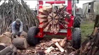 Niesamowite cięcia drewna