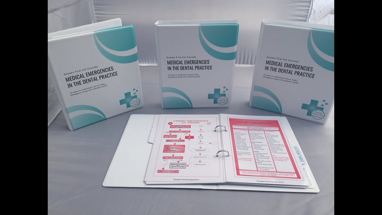 Dental Teams Medical Emergencies in the dental practice manual with colour coded flow charts.
