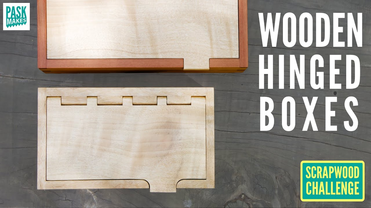 4 Different Wooden Hinged Boxes Pt1 - Scrapwood Challenge ep41