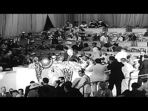 Opening of the 1936 Democratic Party National Convention, at Convention Hall,  in...HD Stock Footage