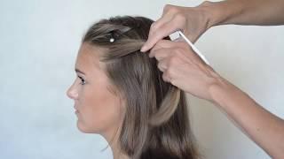 Oryginalne fryzury z perłami i szeroką wsuwką - krok po kroku.