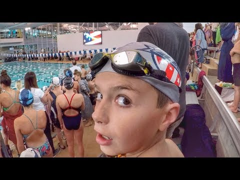 5bebc9c4e64 🏊 FIRST SWIM MEET | WAITING FIVE HOURS FOR 30 SECONDS IN THE POOL - YouTube